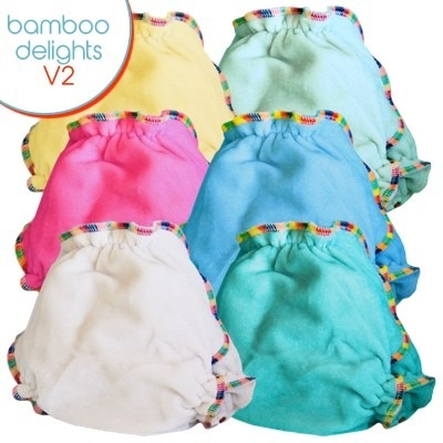 Bubblebubs Bamboo Delights One Size Fitted V2 Nappy PACKAGES