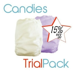 Bubblebubs Candies All-in-2 Nappy TRIAL PACK