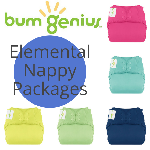 bumGenius NEW! Elemental One-Size Nappy PACKAGES
