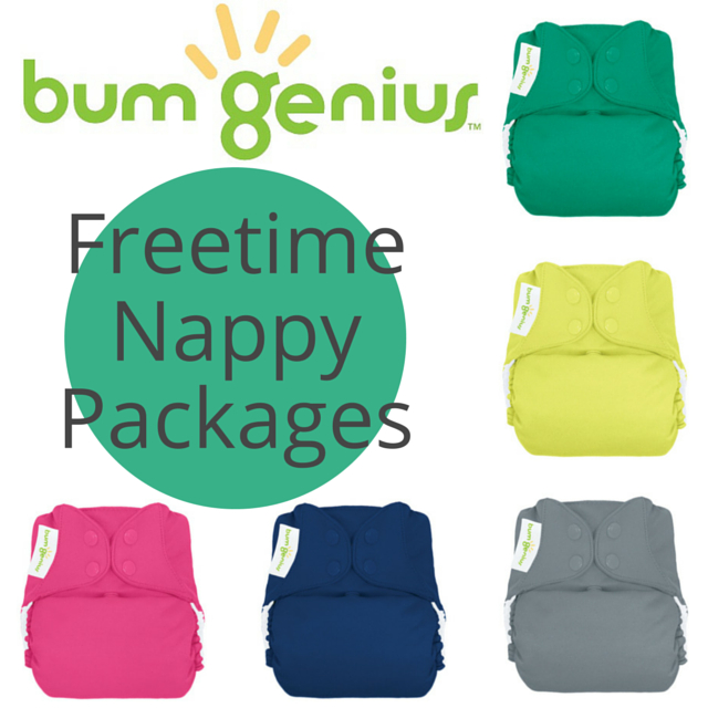 bumGenius Freetime AIO One-Size Nappy PACKAGES