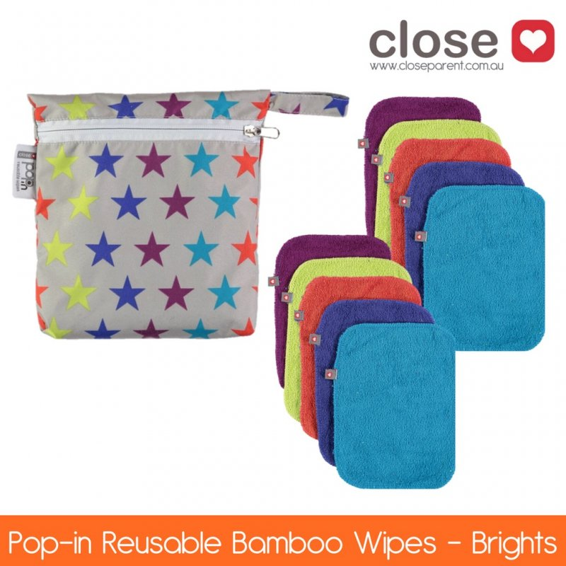 Close Bamboo Wipes - Pack 10