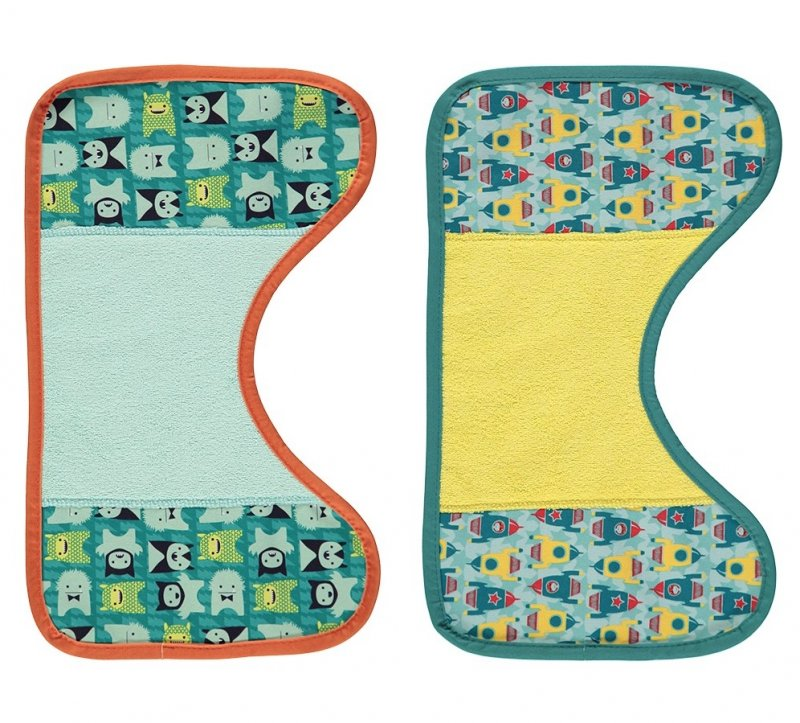 Close Pop-In Burp Cloths