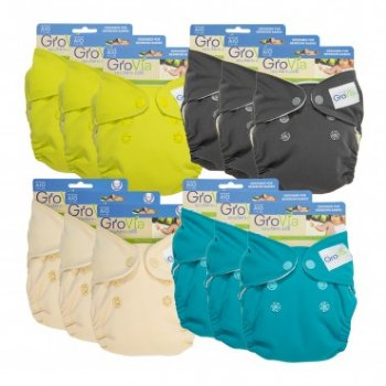 GroVia Newborn AIO Nappy PACKAGES