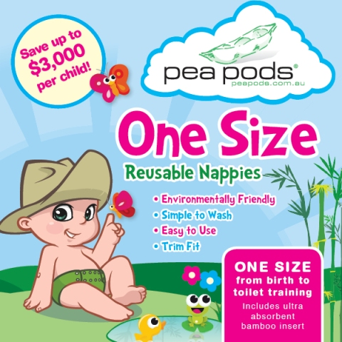Pea Pods One Size Nappy PACKAGES