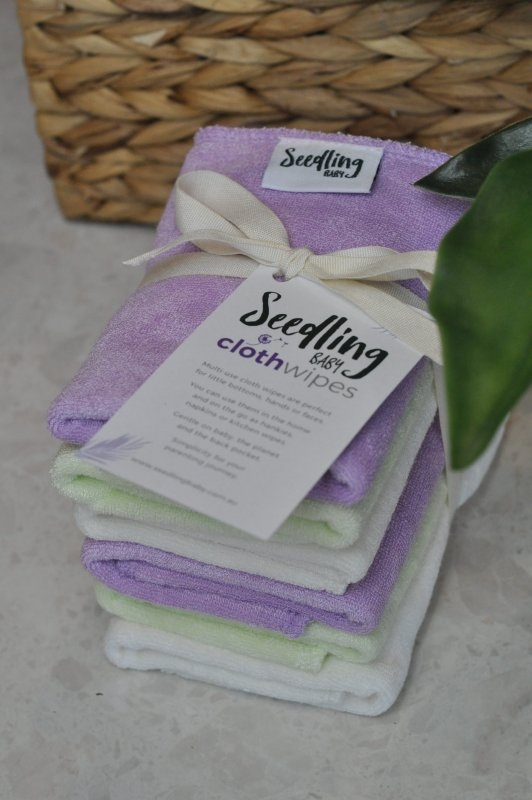 Seedling Baby Wipes 6pk