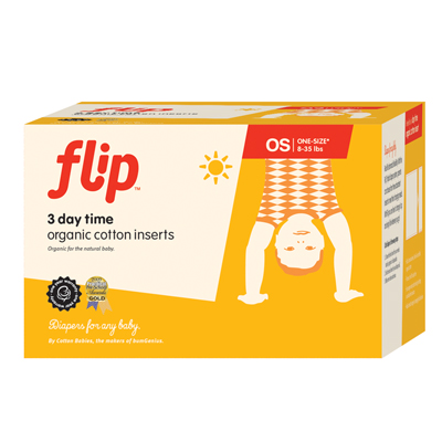 Flip Day Time Organic Cotton Inserts – 3 Pack