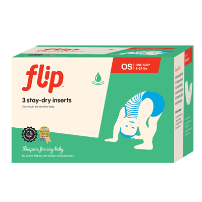 Flip Stay Dry One-Size Inserts – 3 Pack