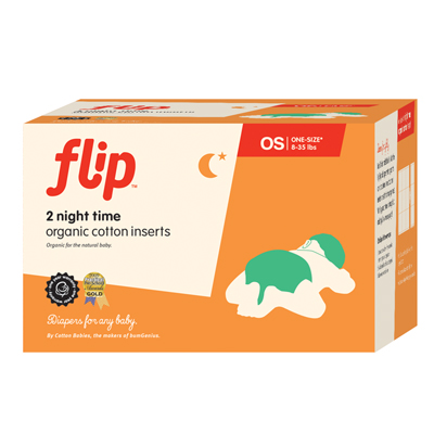 Flip Night Time Organic Cotton Inserts – 2 Pack
